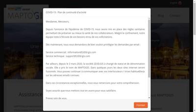 Site internet de 2D3D Gis