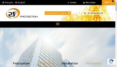 Site internet de 2F Protection