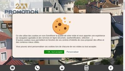 Site internet de 2M Promotion