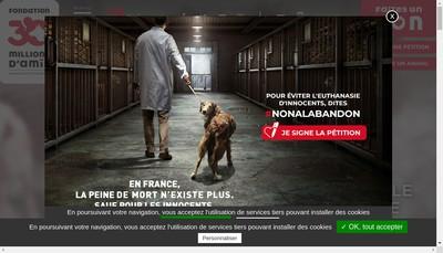 Site internet de Fondation 30 Millions d'Amis