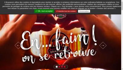 Site internet de Les 3 Brasseurs