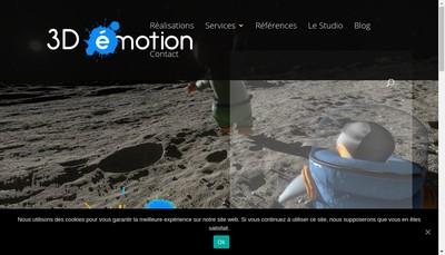 Site internet de 3D Emotion