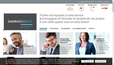 Site internet de 3G Expertise-Comptable Audit & Conseil