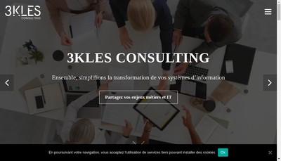 Site internet de 3 Kles Consulting