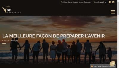 Site internet de 3P Conseils