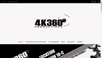 Site internet de 4K360 Productions