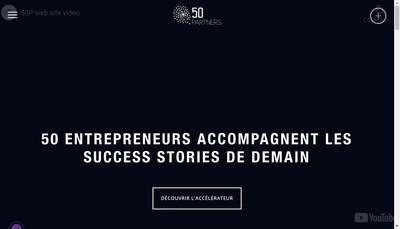 Site internet de 50 Partners