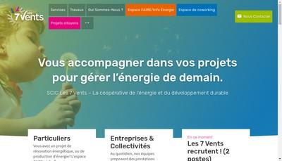 Site internet de Les 7 Vents
