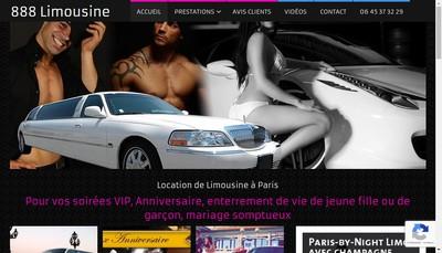 Site internet de 888 Limousine