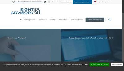 Site internet de Eight Advisory & Associes