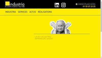 Site internet de Ateliers Industria