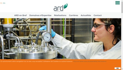 Site internet de Agro Industrie Recherches Developpement
