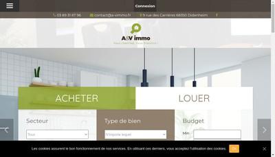 Site internet de A&V Immo