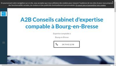 Site internet de A2B Conseils