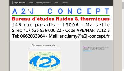 Site internet de A 2 J Concept