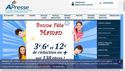 Site internet de A2 Presse