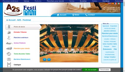 Site internet de A2S International