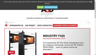 Site internet de A3D Project