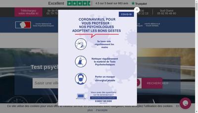 Site internet de Centre National de Tests Psychotechniques