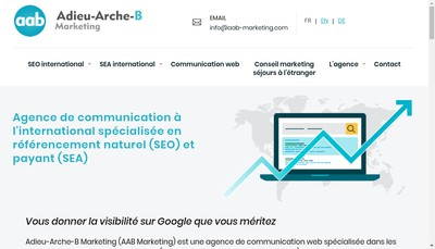 Site internet de Adieu-Arche-B Marketing