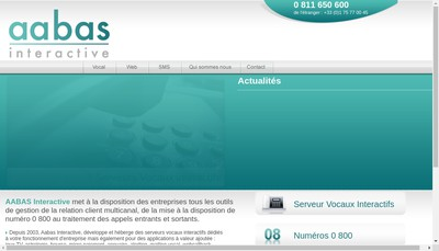 Site internet de Aabas Interactive