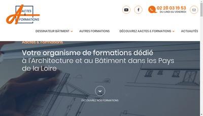 Site internet de A Ctes & Formations
