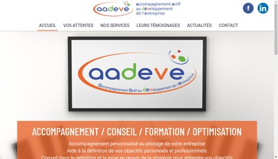 Site internet de Aadeve