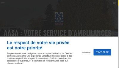 Site internet de AASA Ambulance