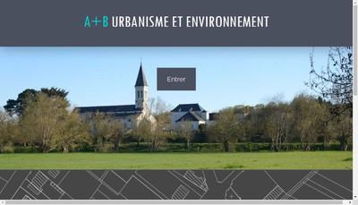Site internet de A + B Urbanisme et Environnement