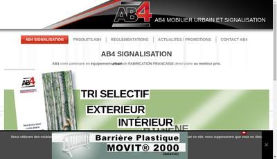 Site internet de Ab4 Signalisation