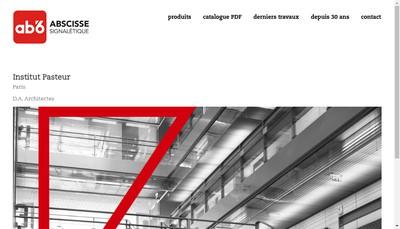 Site internet de Ab'6 Signaletique