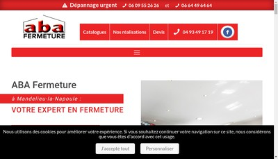 Site internet de Aba Fermeture
