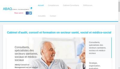 Site internet de Abaq Conseil