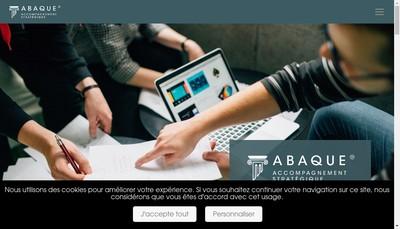 Site internet de Abaque Solutions d'Accompagnement Strategique