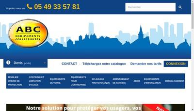 Site internet de ABC Equipements Collectivites
