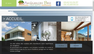 Site internet de Ambiances Bois Concepts