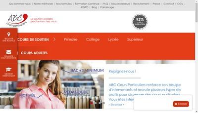 Site internet de Abc Cours Particuliers