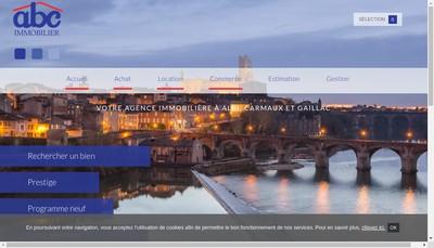 Site internet de Abc Immobilier
