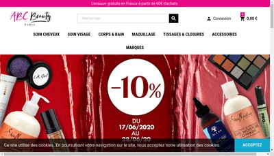 Site internet de African Beauty Cosmetic