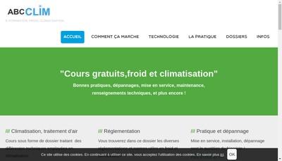 Site internet de Abc Clim