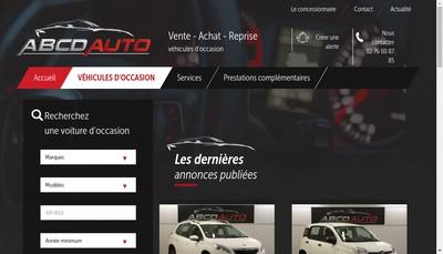 Site internet de Abcd Auto