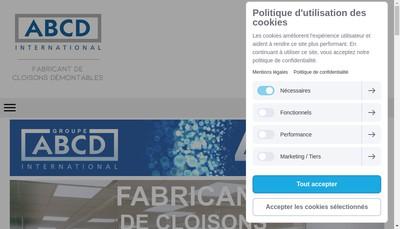 Site internet de Groupe Abcd International