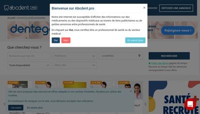 Site internet de SARL Abcdent
