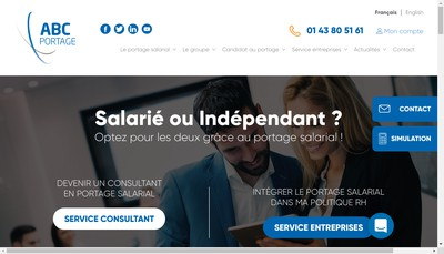 Site internet de Abc Portage Services
