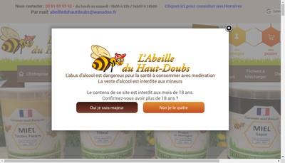 Site internet de L'Abeille du Haut-Doubs