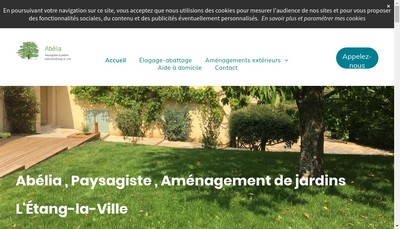 Site internet de Aaj Abelia Amenagements de Jardins