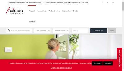 Site internet de Abicom Immobilier