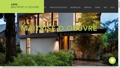Site internet de Abm Maitrise d'Oeuvre