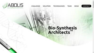 Site internet de Abolis Biotechnologies