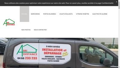 Site internet de Abri Assistance
